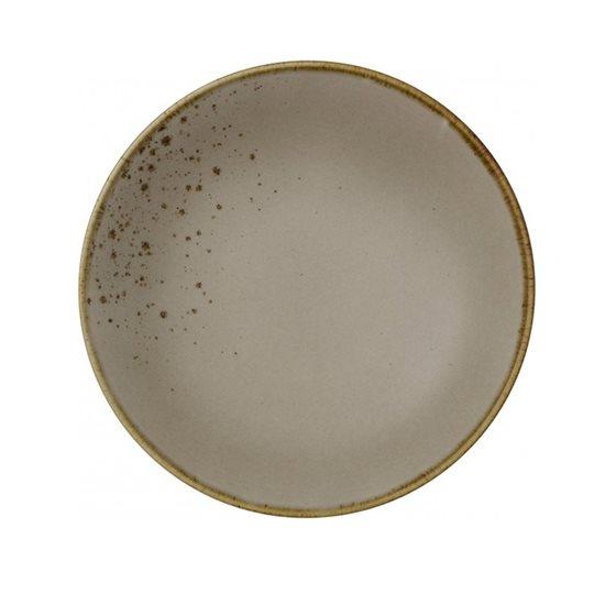 """Farfurie adanca """"Stone Ware"""" 21,5 cm portelan, maro - Vivo"""