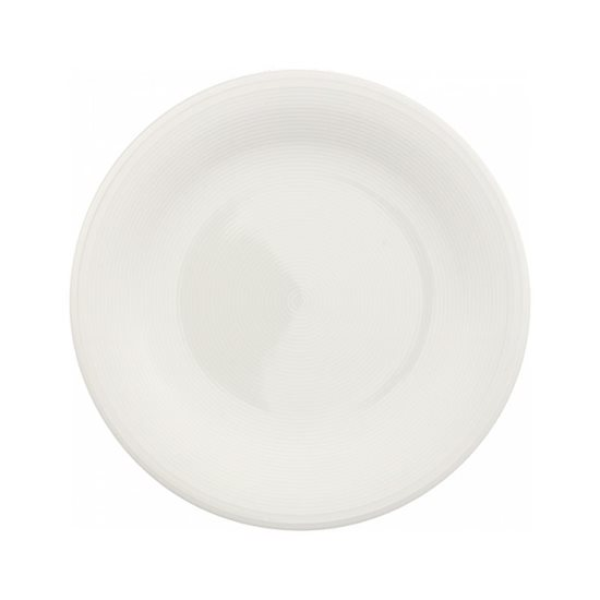 "Farfurie salata ""Color Loop"" 21,5 cm din portelan (crem)- Vivo"
