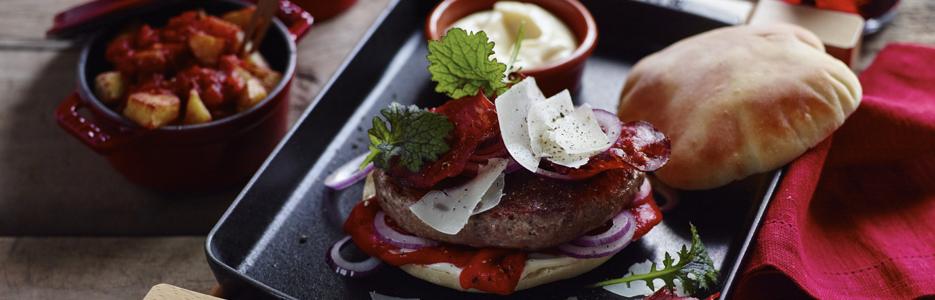 Hamburger în stil spaniol (Hamburguesa)