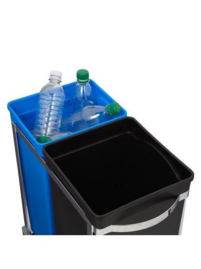 Cos de gunoi incorporabil, compartimentat, 35 L - SimpleHuman