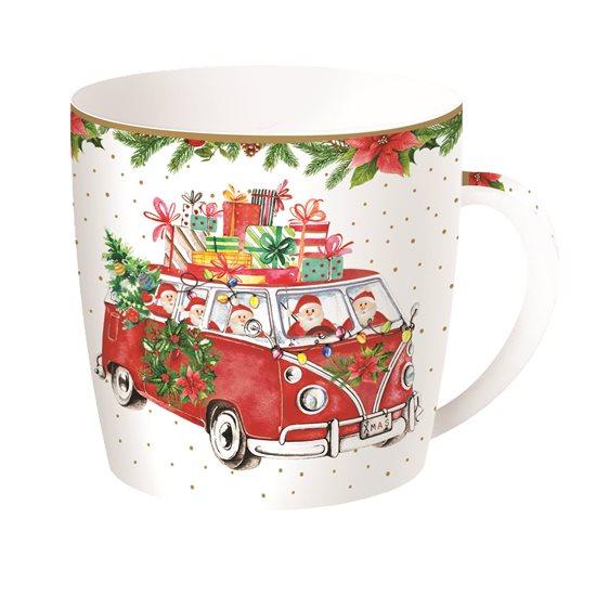 "Cana 350 ml portelan ""Driving Santa"" - Nuova R2S"