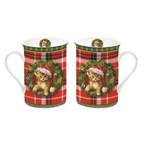 "Set 2 cani 250 ml ""Christmas Time - Cats"" - Nuova R2S"