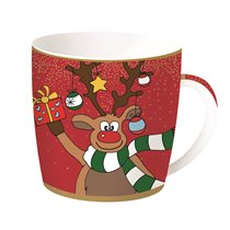 "Cana 350 ml portelan ""Christmas Friends - Rudolf"" - Nuova R2S"