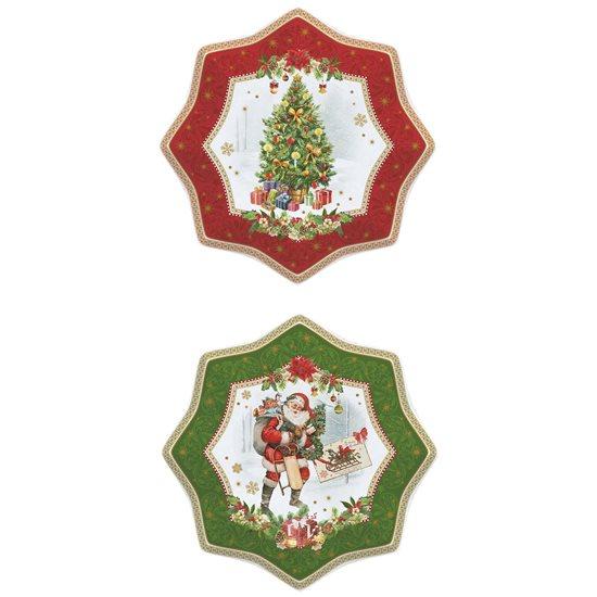 """Set 2 farfurii desert 20 cm """"Vintage Christmas"""" - Nuova R2S"""