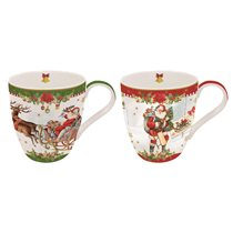 "Set 2 cani 350 ml ""Vintage Christmas"" - Nuova R2S"