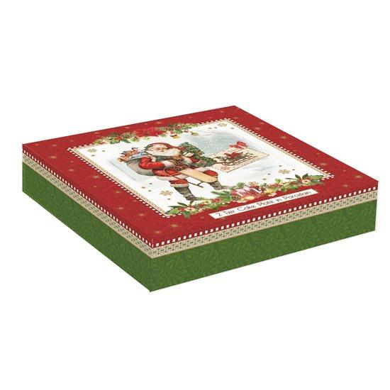 "Set 2 platouri servire etajate ""Vintage Christmas"" - Nuova R2S"