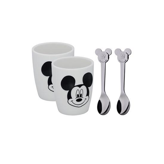 "Set cesti si lingurite copii 4 piese ""Mickey Mouse"" - WMF"