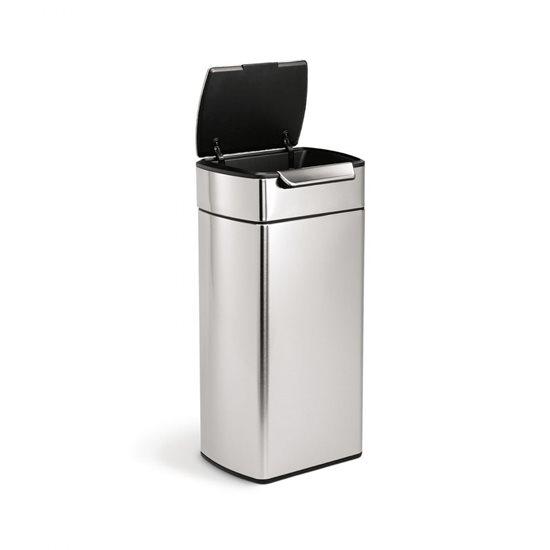 Cos de gunoi cu pedala superioara 30 L inox - SimpleHuman