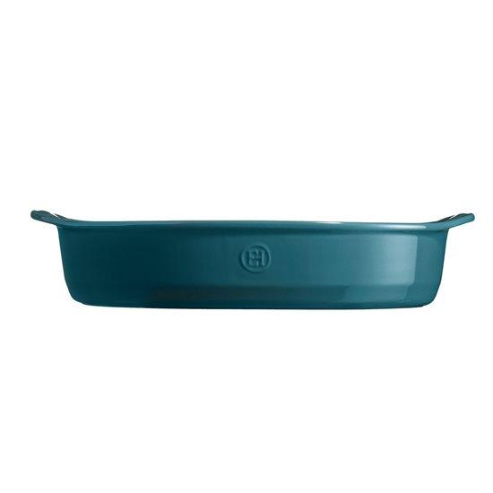 Tava ovala din ceramica, 41,5 x 26,5 cm/ 3,8 l, Blue Flame - Emile Henry