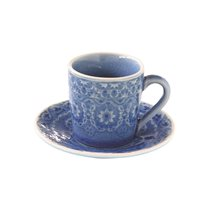 "Set cana 100 ml si farfurioara espresso ""Ambiente"", albastru cobalt - Nuova R2S"