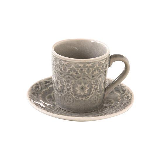 "Set cana 100 ml si farfurioara espresso ""Ambiente"", gri - Nuova R2S"