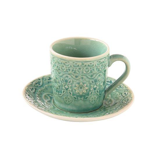 "Set cana 100 ml si farfurioara espresso ""Ambiente"", verde jad - Nuova R2S"