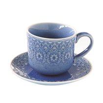 "Set cana 300 ml si farfurioara ""Ambiente"", albastru cobalt - Nuova R2S"