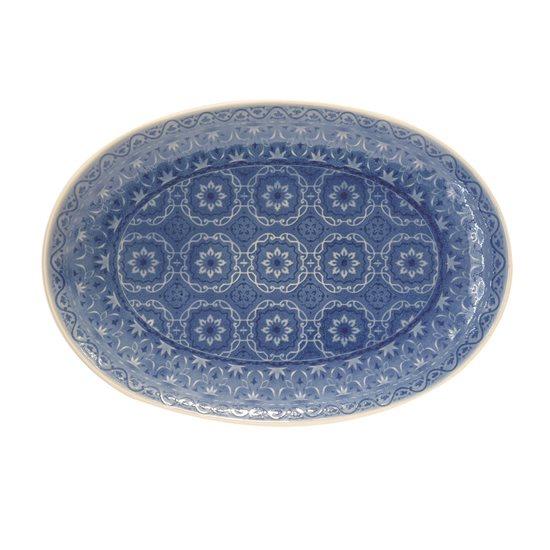 """Platou oval de servire 35 x 24,5 cm din ceramica """"Ambiente"""", albastru cobalt - Nuova R2S"""