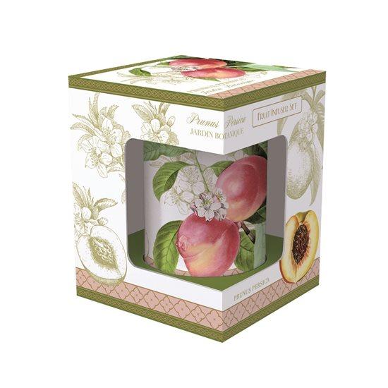 "Cana cu infuzor din portelan 300 ml ""Jardin Botanique - Peach"" - Nuova R2S"