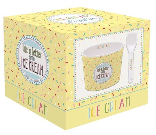 "Bol servire inghetata ""Ice Cream"", galben - Nuova R2S"