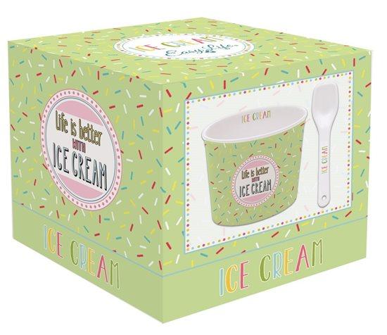 "Bol servire inghetata ""Ice Cream"", verde - Nuova R2S"