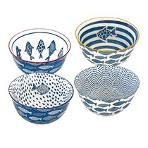 "Set 4 boluri portelan ""Design & art - Sea"" - Nuova R2S"