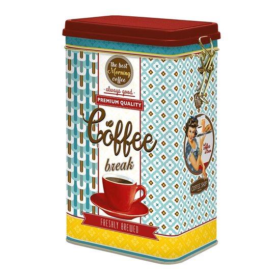"""Cutie metalica pentru cafea """"Vintage"""", albastru - Nuova R2S"""