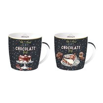 "Set 2 cani ""Hot Chocolate"" 350 ml portelan - Nuova R2S"