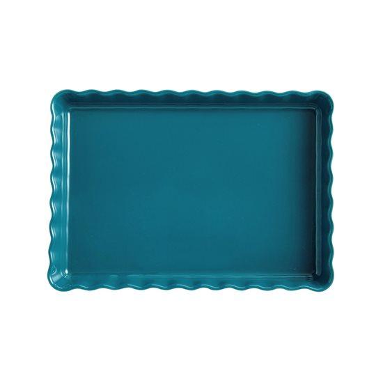 Tava ceramica pentru tarte 33,5 x 24 cm/1.9 l, Mediterranean Blue - Emile Henry