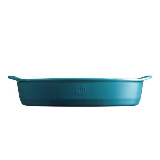 Tava ovala din ceramica, 41,5 x 26,5 cm/ 3,8 l, Mediterranean Blue - Emile Henry