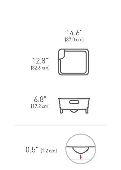 Uscator de vase 37 x 32,6 x 17,2 cm - SimpleHuman