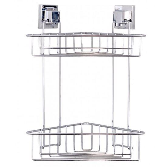 Rafturi supraetajate adezive pentru baie, 39 cm - Tekno-Tel