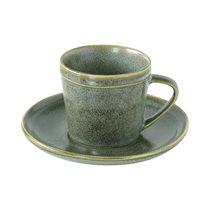 "Ceasca ceai cu farfurie 225 ml ""Essential"", Verde - Nuova R2S"
