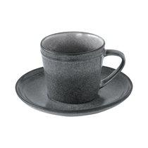 "Ceasca ceai cu farfurie 225 ml ""Essential"", Gri - Nuova R2S"
